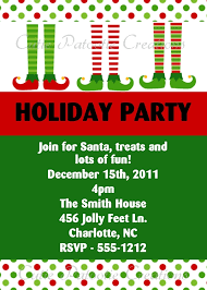 Printable Holiday Party Invitations Elf Feet Christmas Holiday Party Invitation Printable Or Printed
