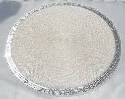 beaded placemats round high quality handmade coaster decorative table mats novelty tea cup sequin luxury beige in pads from home garden uk