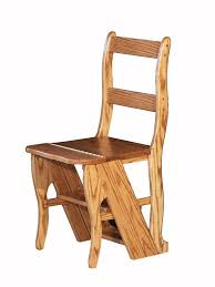 hardwood library step stool chair in plan 13