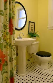 Black And Yellow Bathrooms  Grasscloth Wallpaper - Yellow and white bathroom