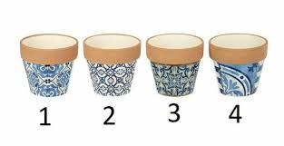 terracotta plant pot blue tile design