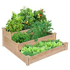 Kitchen Garden Planter Raised Garden Beds Garden Center Outdoors The Home Depot