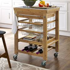 Granite Kitchen Cart Alcott Hill Barhill Kitchen Cart With Granite Top Reviews Wayfair
