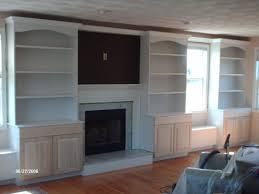built ins around windows and fireplace round designs