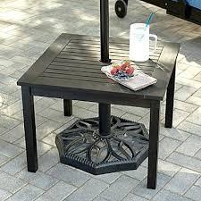 small patio table with umbrella patio coffee table with umbrella hole make a side table umbrella