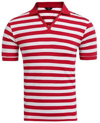 images gallery sunshine men turn down collar short sleeve striped polo t shirt red white