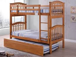 maple bunk beds with trundle wooden