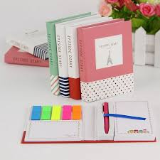 <b>1PC Hardcover</b> Notepad Sticky Notes Diary Notebook and Pen ...