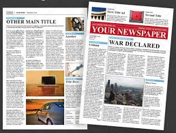 School Newspaper Template Magdalene Project Org