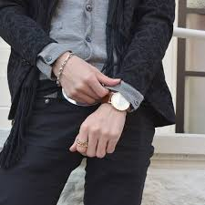 daniel wellington gents classic york rose gold watch more views