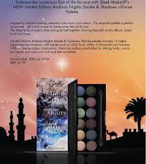 sleek makeup launches arabian nights