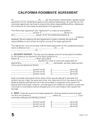 Roommate Agreement Contracts 001 Room Rental Contract Template California Roommate