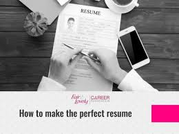 How To Make A Perfect Resume Fair Lovely Career Foundation