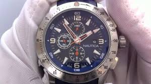 men s blue nautica nst chronograph watch n17592g