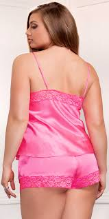 plus size short sets plus size satin and lace cami and short set sexy womens lingerie