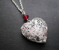 antique silver filigree heart locket necklace images of