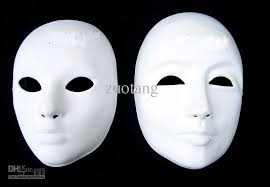 Blank Face Masks To Decorate Paper Mache Thicken Blank White Masks To Decorate Full Face Green 2