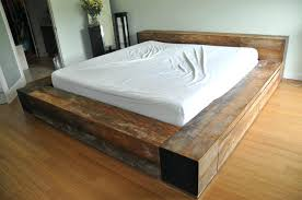 rustic platform beds with storage. Delighful Platform Platform Bed Frame Rustic King With  Storage For Beds T