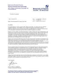 faculty letter of recommendation reference letter university of twente gregory coue