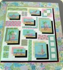 This whimsical quilt is made using Modas Beach Birdies panel of ... & Beach Birdies Panel Quilt Pattern by reezehanson on Etsy Adamdwight.com