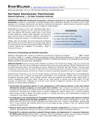 Resume Sample Software Engineer Professional Software Engineer