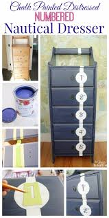 diy chalk paint furniture ideas with step by step tutorials chalk painted tall nautical dresser