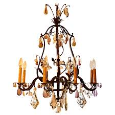 antique wrought iron chandelier antique wrought iron chandelier with french prisms circa for antique french