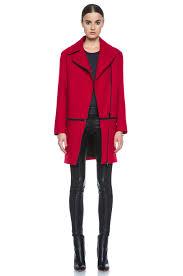 image 1 of rag bone rally wool blend coat in red