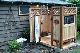building an outdoor shower enclosure ideas diy the cedar at in is co