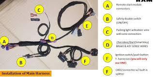 2018 jeep grand cherokee plug & play remote start kit (smart key  at Jeep Wj Wiring Harness 2 Yellow Wires