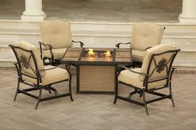 Outdoor Tile Table Top Outside Fire Pit Set 5 Piece Traditions Outdoor Tile Tabletop Fire