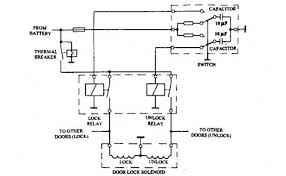 window winding and central door locking automobile central door locking circuit capacitor control