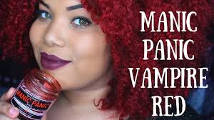 Manic Panic Hair Color Chart Manic Panic Vampire Red Hair Dye Answering Questions On My Color