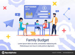 online family budget family budget planning stock vectors royalty free family