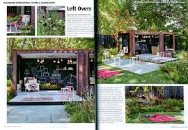Spread in Outdoor Design & Living magazine issue 29, featuring 'Left overs'  designed