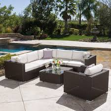 fine cushions biscayne 4piece allweather wicker patio for outdoor furniture