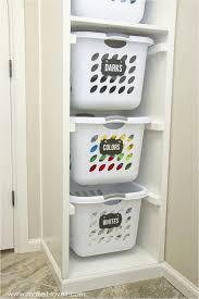 diy shelves for laundry room diy laundry basket organizer built in