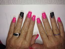 pink and black sparkle matte
