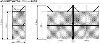 chain link fence post sizes. Fine Sizes Chain Wire Fencing Security Gates 1800 MM High Inside Link Fence Post Sizes U