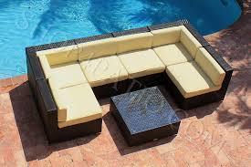 modern wicker patio furniture. AKOYA Wicker Collection. 7 Piece Modern Outdoor Patio Furniture S