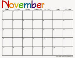 Free November Calendar Printable Download Calendar