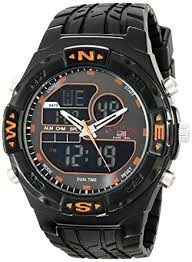amazon com u s polo assn sport men s us9059 analog digital u s polo assn sport men s us9059 analog digital watch black rubber band