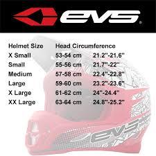 Evs Helmet Size Chart 70 Abiding Bolle Helmet Size Chart
