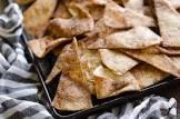 baked cinnamon tortillas