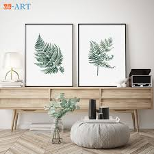 framed watercolor print set of 2 green ferns plant illustration minimalist leaf art botanical wall decor watercolour leaves in painting calligraphy from  on botanical wall art set of 2 with framed watercolor print set of 2 green ferns plant illustration
