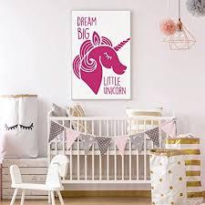 unicorn vinyl wall art with e dream big little unicorn