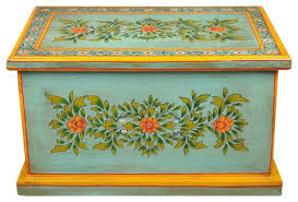 green fl hand painted hardwood