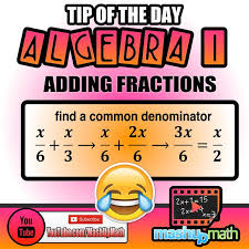 best awesome algebra resources images math  remember that you need to have a common denominator before you can add two or more