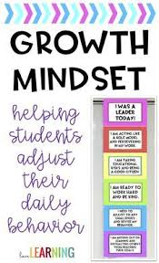 Growth Mindset Clip Chart Rainbow Bright Colors And Black