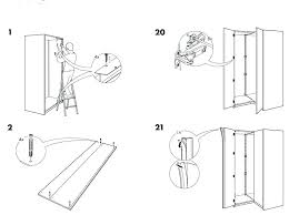 ikea pax wardrobe assembly instructions double hinged door pictures concept wardrobe with doors